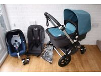 Bugaboo Cameleon Cam 3 Petrol blue pram with/without car seat 3 in 1 *can post*