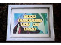 Personalised Scrabble Tile Word Art - Home Decor, Handmade, Arts and Crafts