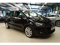 SEAT Alhambra CR TDI SE LUX DSG [SAT NAV / LEATHER / PAN ROOF] (deep black) 2013