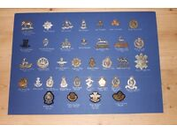 WWI & WW2 BRITISH MILITARY CAP BADGES LARGE LOT OF 35 IN EXCELLENT CONDITION