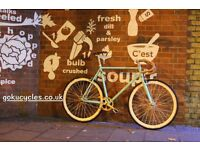 SALE ! GOKU cycles Steel Frame Single speed road bike TRACK bike fixed gear bike racing bike Q123