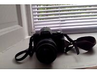 Sony DSLR with all purpose zoom lens