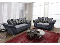 SPECIAL OFFER: BRAND NEW SHANNON FABRIC/VELVET SOFAS AT A REDUCED PRICE WITH EXPRESS DELIVERY!!!