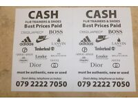 !!!! INSTANT CASH PAID FOR DESIGNER CLOTHES, TRAINERS & SHOES!!!!!!!