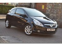 2008 VAUXHALL CORSA DESIGN 1.4*3 MONTHS WARRANTY INCLUDED*NEW MOT & SERVICE*HIGH SPEC