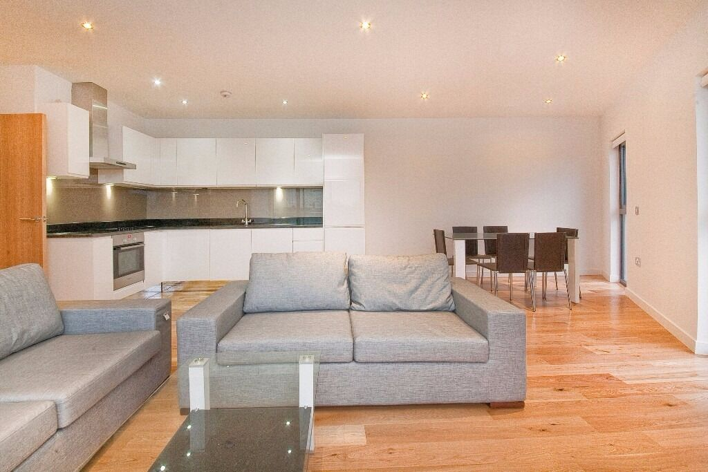 Modern two bed two bath apartment with large balcony close to Canary Wharf Central. Available Feb
