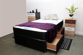 "NEW STOCK! BRAND NEW DIVAN BED WITH LUXURY ORTHOPAEDIC/MEMORY FOAM 10"" MATTRESS."