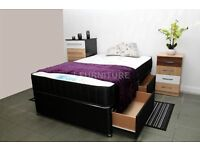 "NEW STOCK! BRAND NEW DIVAN BED WITH LUXURY ORTHOPAEDIC/MEMORY FOAM 10"" MATTRESS."