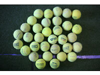 Used Tennis Balls Ideal for Practice or Serving