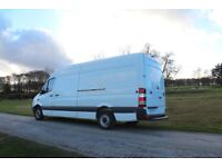 Man and Large Sprinter Van. Van and Driver Hire Manchester to London Anywhere