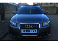 AUDI A3 2.0 TDI S LINE PANORAMIC ROOF QUATTRO 5DR SPORTBACK DIESEL 2006 GREY