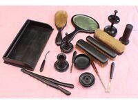 Antique Ebony Wood Dressing Table Set