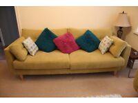 Lovely DFS light green sofa for sale