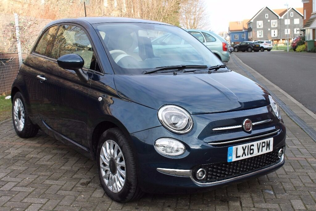 2016 fiat 500 1 2 lounge s s epic blue 3400 miles in faversham kent gumtree. Black Bedroom Furniture Sets. Home Design Ideas