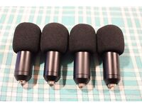 PRO set of 4 Condenser DRUM mikes as new - for live gigs or studio recordings BARGAIN