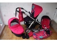 Mamas and Papas Sola 2 pram travel system 3 in 1 - Delphic Pink *can post*
