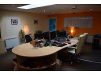 4 Office Desks and 2 End Desks for Filing - Edinburgh