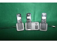 Cordless Triple Home Phone with Answering Machine