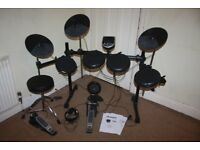 Alesis DM6 Electronic Drum Kit including Owner's Manual, Stool and Headphones and Drum Sticks