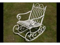 New Metal Shabby Chic Garden Rocking Chair - Delivery