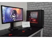 Liquid Cooled High End Gaming PC i7 8700k GTX 1080 TI 32GB 3200MHz Ram 144hz Monitor With Games