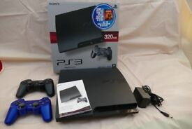 Sony PS3(320GB) + LOGITECH Driving ForceGT wheel & Foot Pedals + 12 Games + 2 Contollers