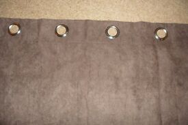 BROWN FAUX SUEDE CURTAIN'S
