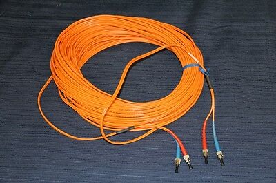 CDT 40-Meters Fiber Optic Cable ST-ST Duplex 2 x 62.5/125um Multimode 131-ft NEW 125um Duplex Multimode 2 Meters