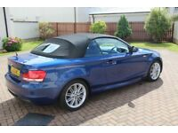 2012 Blue BMW 1 Series 118D M Sport Convertible Full Service Recent MOT