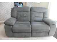 GREY FABRIC RECLINER SUITE