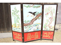 Vintage Chinese Restaurant Privacy Screen Room Divider