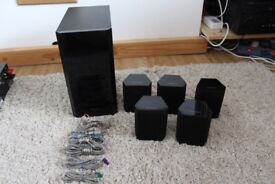 5.1 SAMSUNG PS-FW1-2 SUBWOOFER And 5 Ps-fs1-1 Speakers!!!