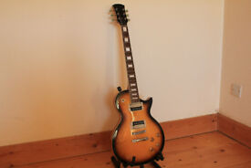 "THE STAGG ""L"" SERIES ZEBRA LES PAUL GUITAR"