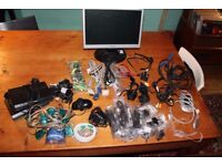 Assorted computer and electronics and TV accessories