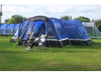 8 berth Hi gear Tent, with porch, including 2 beds, 2 seats, cupboards, cooker, unused toilet