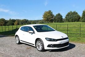 VW Scirocco 1.4L TSi, White, 3dr Coupe, 2010 Reg Manual Gearbox, 29,000 miles