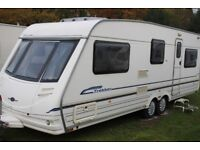 Sterling Eccles Elite Trekker 1999 5 Berth Twin Axle Caravan + Full Awning