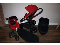 Quinny Moodd pram travel system 3 in 1 Red Rumour *can post*