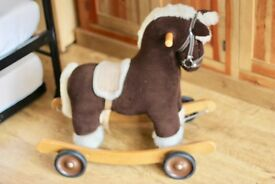Beautiful Mamas & Papas wooden ride on and rocking horse in excellent condition