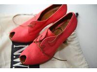 NW3 Hobbs Pink High Heels, Size 6 (39)