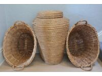 Wicker basket collection. 4 items £10.00 **** BUYER COLLECTS ****