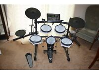 Roland TD8 - Full drum set plus stool, bass pedal, power supply, manual and sticks - £625