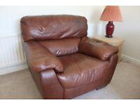 Sofitalia Natural Leather armchair (brown)