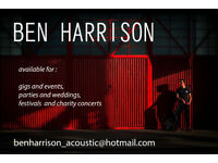 Ben Harrison Acoustic - available for gigs, weddings, parties, events, festivals