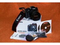 Excellent CANON 600D digital camera package with 3 CANON lenses 10-22mm, 18-55mm, 55-250mm & extras
