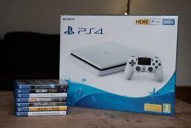 PS4 White Slim 500GB + 7 Top Games