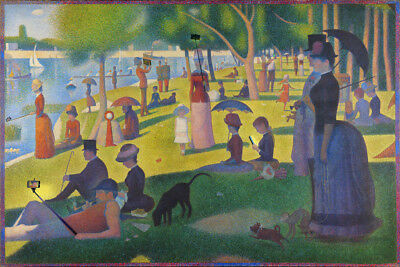 Modern Sunday on the Island of La Grande Jatte Seurat Art Humor Poster -