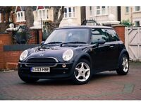 Mini One Hatch 2003, 1.6L, black, low mileage, great london car