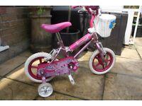 Avigo Precious Pink Girls bike - with stabilisers