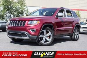 2014 Jeep GRAND CHEROKEE LIMITED Limited,CUIR,TOIT,CAMERA,GPS